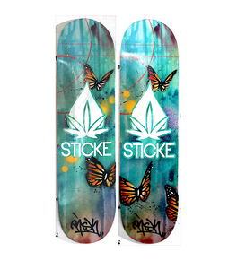 Sticke Vape Skate Decks: - RISK