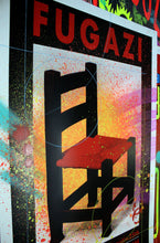 Load image into Gallery viewer, Fugazi - Concert Print AP - Taz Print Hand Embellished by Risk.  One of a Kind! - RISK