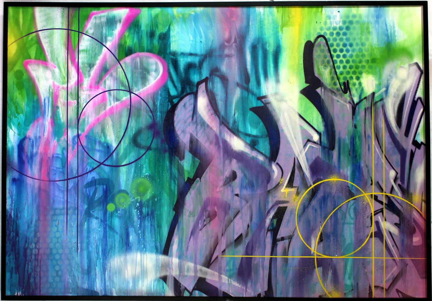 Risk and Bates Original Painting.  West Coast and Europe Graffiti Legends - RISK
