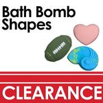 clearance promotion with football, heart and sea shell shaped bath bombs