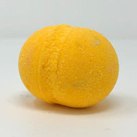 yellow round bath bomb