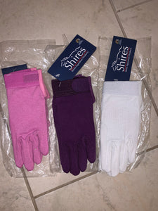 Shires New Pimple Grip Cotton Gloves - Ladies Extra Small