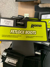 Load image into Gallery viewer, Roma Black Pony Fetlock Boots - Brand New - Fast Delivery 🚚