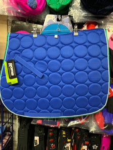 Roma Circle Quilt Saddle Pad - Royal Blue - Full Size