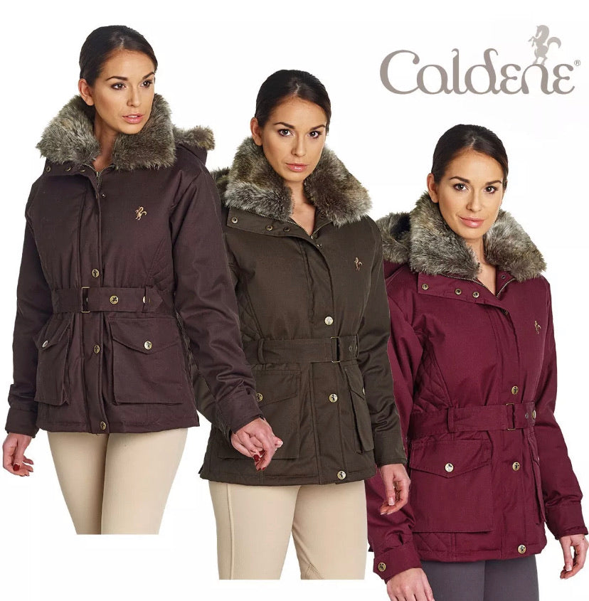 Caldene Riding Jacket - Fur Hood - Huge Saving on Rrp!