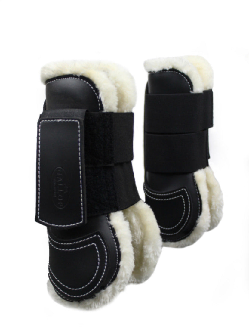 Prestige Faux Fur Tendon Boots - Pony to Extra Full
