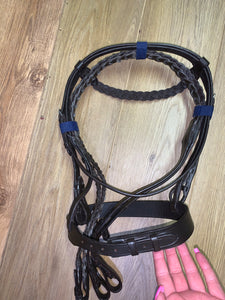 Plaited Hunter Bridle & Reins - Shetland - Pony - Cob - Full