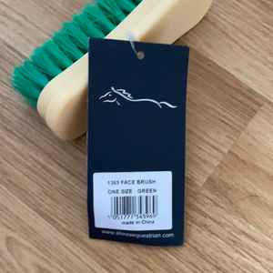 Shires Green Soft Bristle Face Brush
