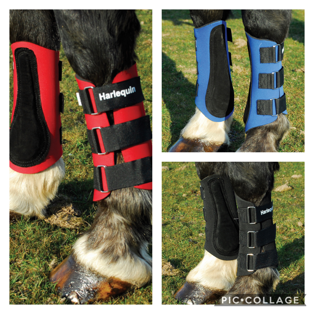 Harlequin Neoprene Brushing Boots - Pony Cob Full