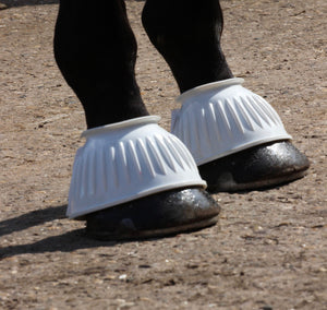 Gallop Ribbed Rubber Over Reach Boots - Pony Cob Full Extra Full