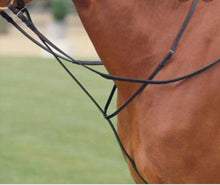 Load image into Gallery viewer, Collegiate Black Standing Martingale - Cob or Full