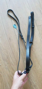 Black NEW ENGLISH leather Standing Martingale - Pony - Free Delivery