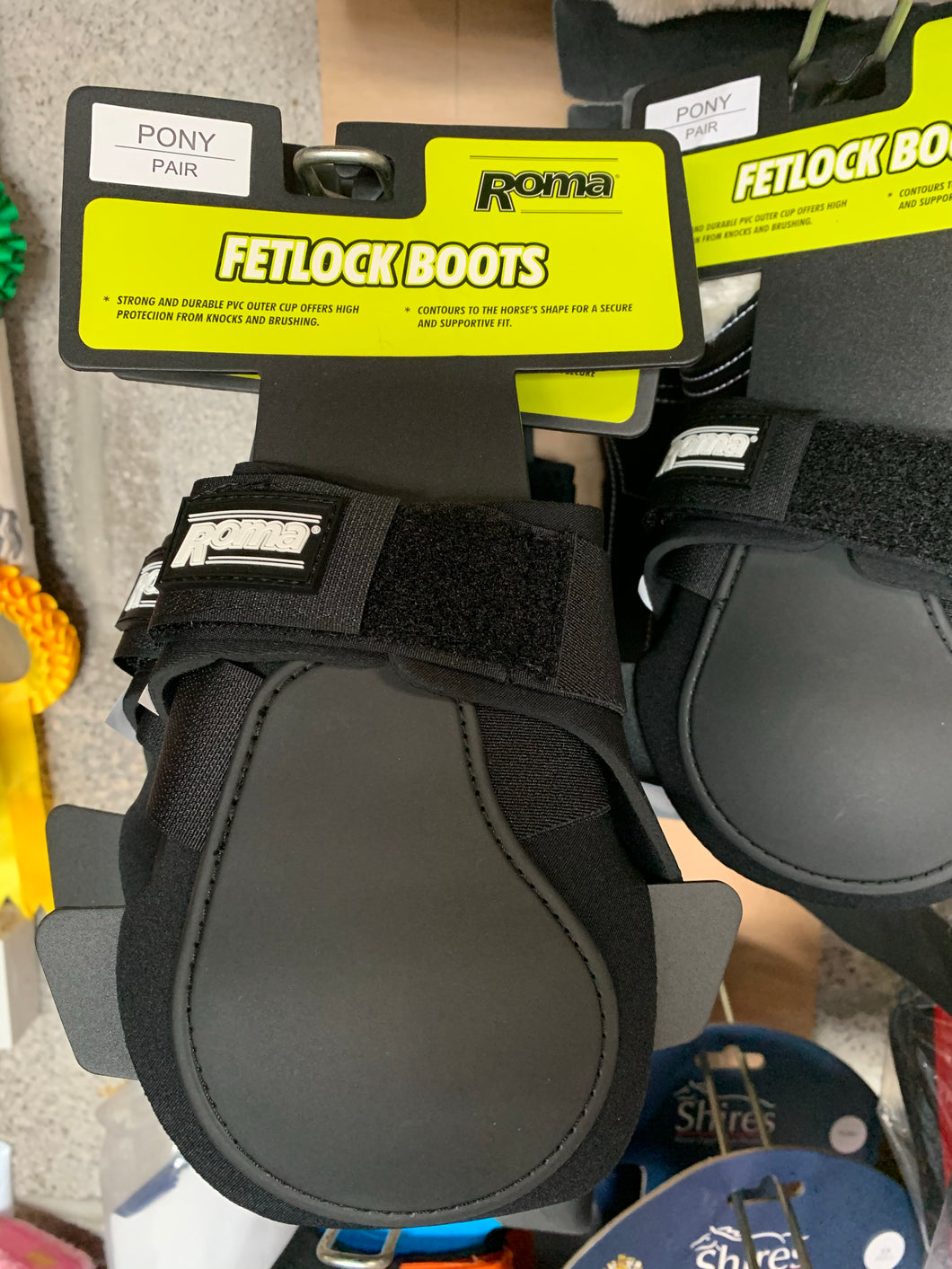 Roma Black Pony Fetlock Boots - Brand New - Fast Delivery 🚚