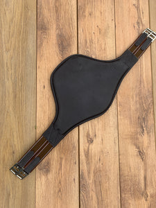 "Gallop Brown Leather Padded Stud Girth - 38"" - Free Delivery"