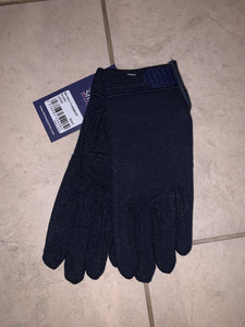 Shires Newbury Navy Gloves - Ladies Large - Free Delivery 🚚