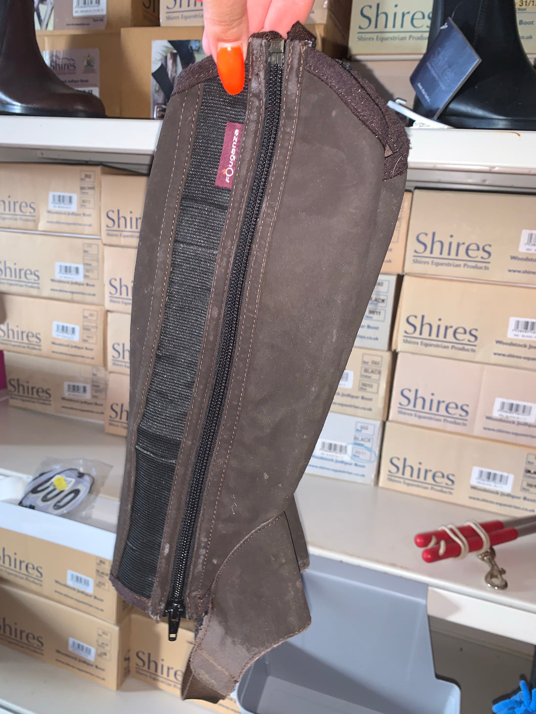 Fouganza Brown Half Chaps - Ladies Small - Free Delivery 🚚