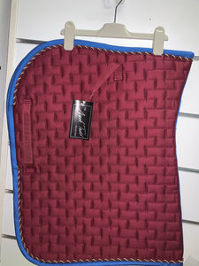 Mark Todd Burgandy Saddle Pad - Pony - Bargain Price