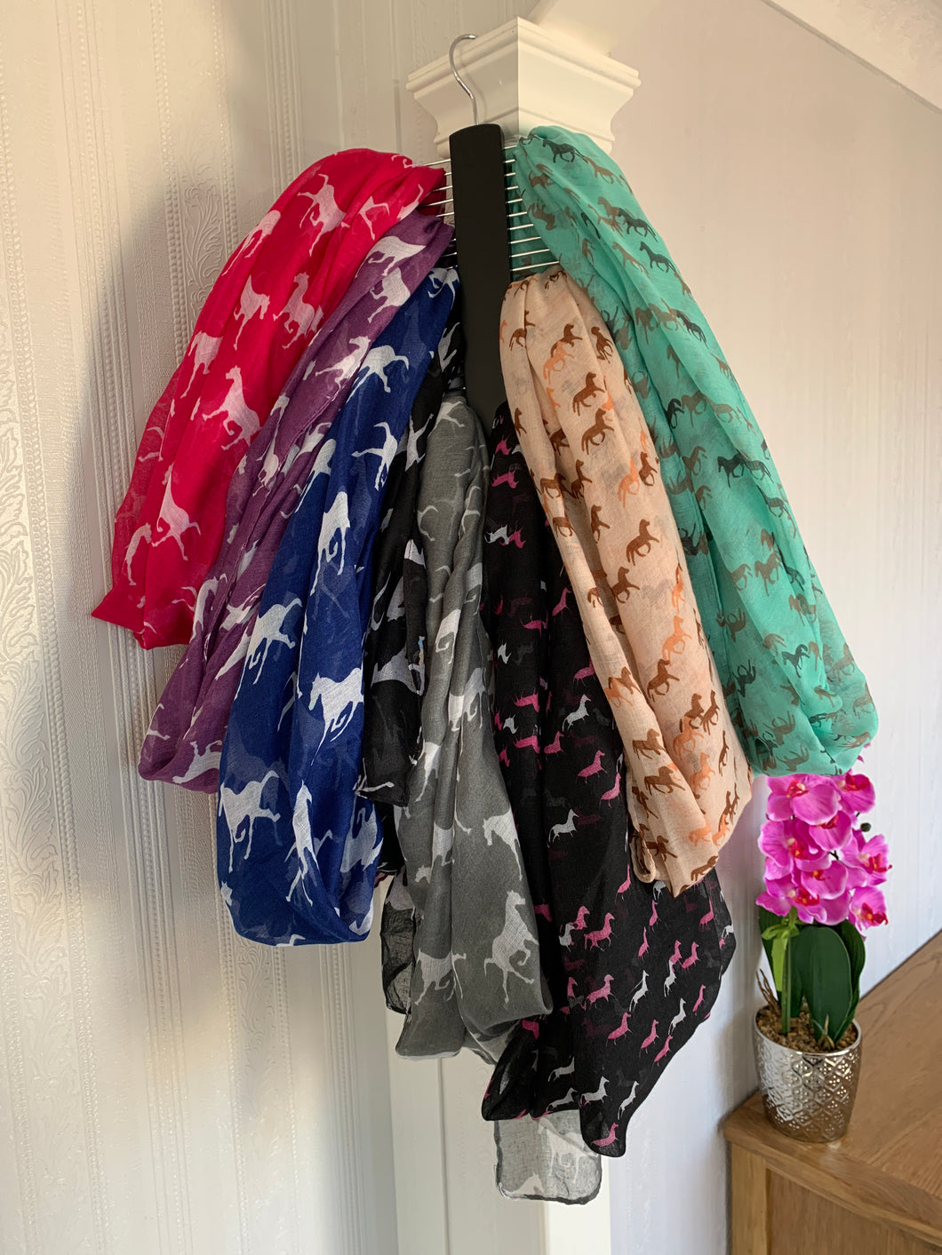 Horse Print Scarves - Lots Of Colours - Free Delivery 🚚