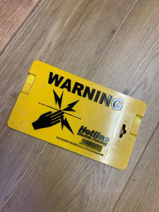 Hotline Electric Fencing Warning Sign - Free Delivery 🚚
