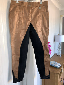Lauria Garrelli Hkm Brown Shimmer Breeches - Ladies 34""