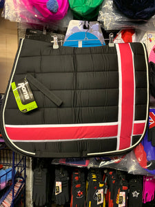 Roma Quilted Pink Contrast Saddle Pad - Full Size