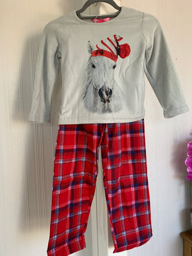 Santa Pony Fleece Pyjamas - Childs Sizes - Free Delivery 🚚