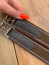 "Load image into Gallery viewer, Gallop Brown Leather Padded Stud Girth - 38"" - Free Delivery"