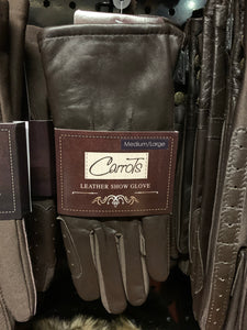 Carrots Brown Leather Show Gloves - Ladies - Free Delivery 🚚