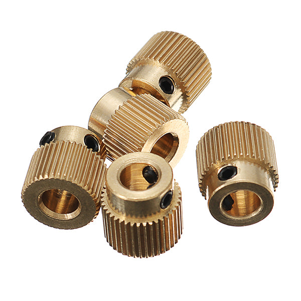Creality 3D® 5PCS 40 teeth 5mm Brass Extrusion Wheel Gear With M3 Screw For 3D Printer