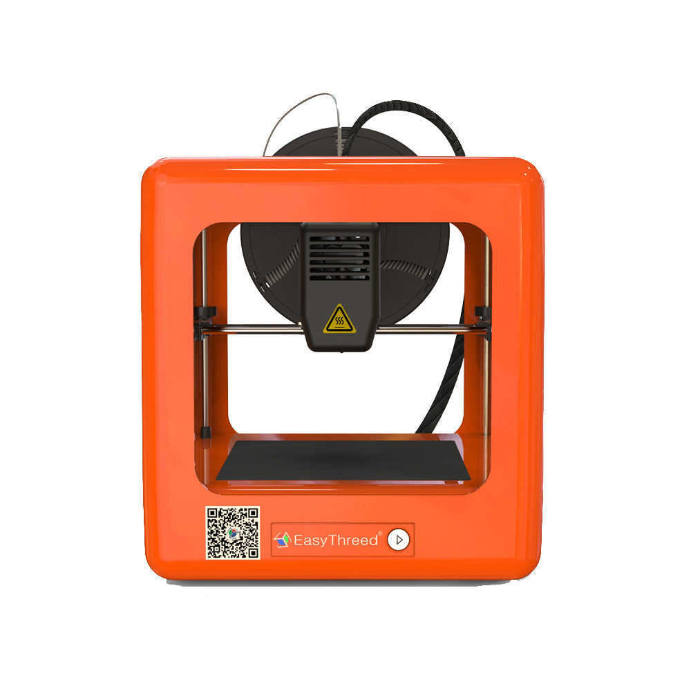 Easythreed® Orange NANO Mini Fully Assembled 3D Printer 90*110*110mm Printing Size Support One Key Printing with CE Certificate/1.75mm 0.4mm Nozzle for Household Education & Students
