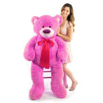 Load image into Gallery viewer, 5 feet hefty pink hug bear
