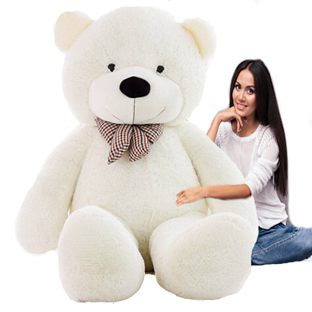 Giant-White-Teddy Bear-6ft-7ft