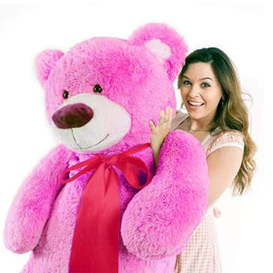5 feet hefty pink hug bear