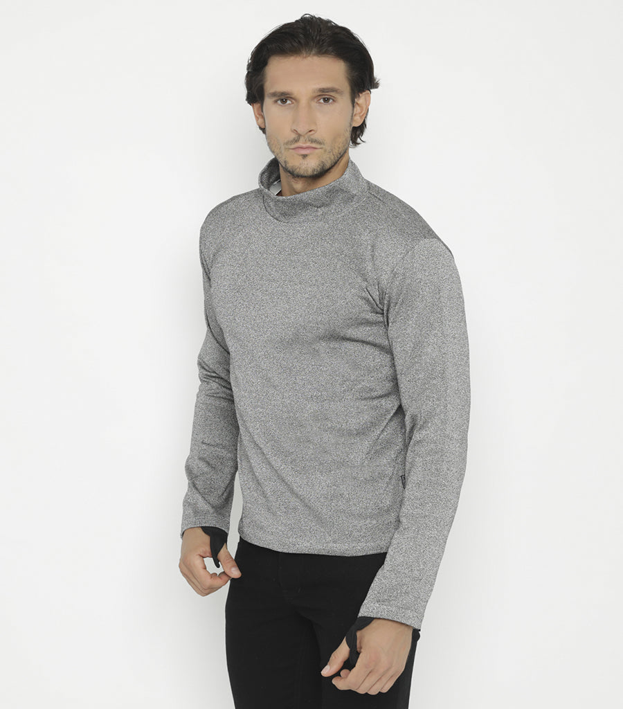 STYLISH ARMOR Turtleneck Sweatshirt with Thumbholes