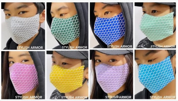 STYLISH ARMOR Silver Antimicrobial 3ply net 12pcs