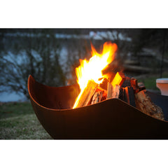 Fire Pit Art Manta Ray Wood Burning Fire Pit