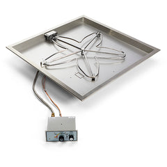 "HPC_36""_PENTA_Square_Bowl_Pan_Gas_Fire_Pit_Insert"