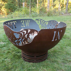 Cedar Creek Sculptures In  God We Trust Fire Pit