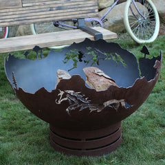 Cedar Creek Sculptures Mustang Freedom Fire Pit