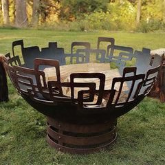Cedar Creek Sculptures Prevailing Links Fire Pit