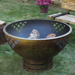 Cedar Creek Sculptures Woven Thoughts Wood Burning Fire Pit