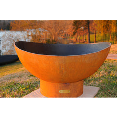 Fire Pit Art Scallop Wood-Burning Fire Pit Outdoor Fire Pit