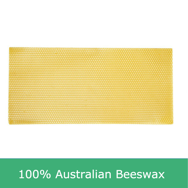 Assembled full depth beekeeping frames and Australian beewax foundation