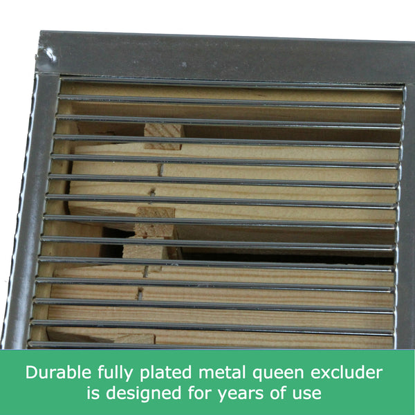 8 frame metal queen excluder eight frame