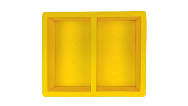 Silicon Beeswax Mold - double cavity 2 x 1 pound