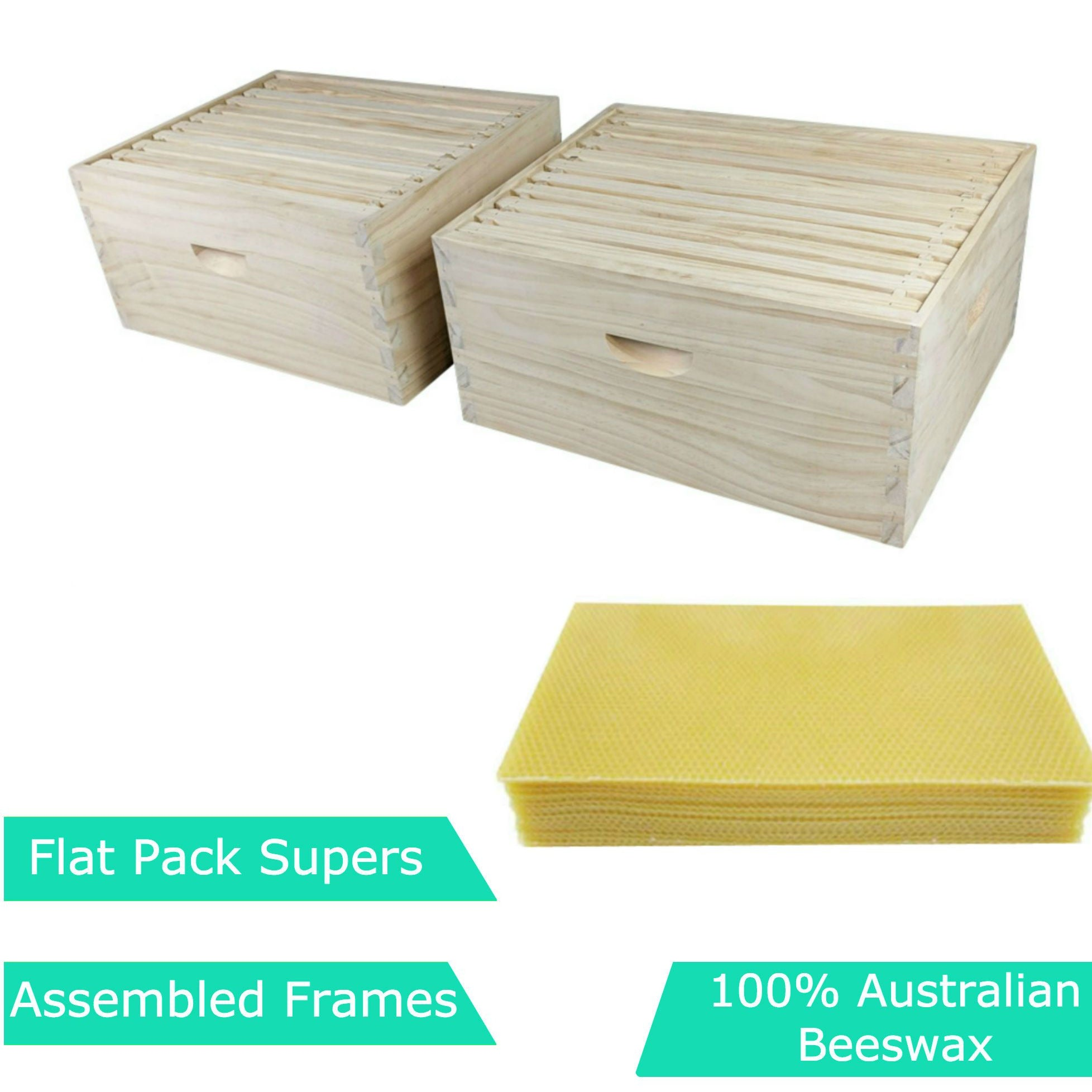 Beehive kit 10 frame full depth with beeswax foundation