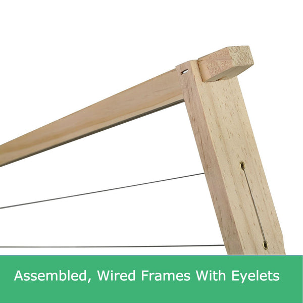 Assembled Wired Beekeeping Frames