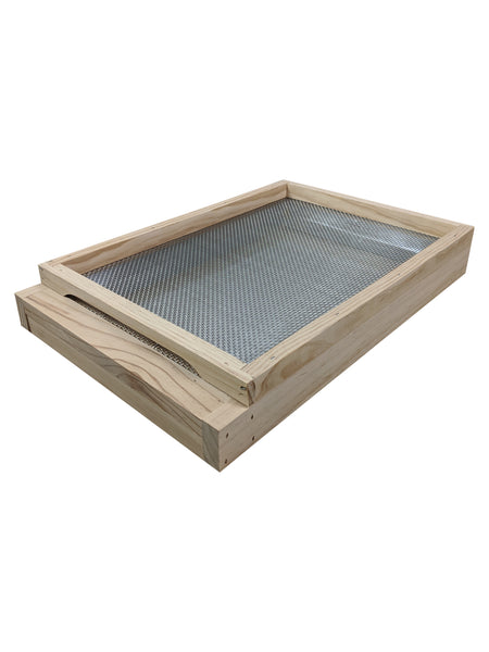 Beehive Beekeeping  base with stainless steel screen mesh trap