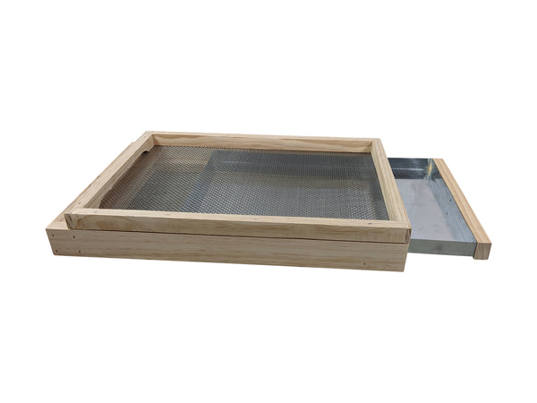 20 Frame Double Beehive Kit With Mesh Screen Base - Includes Frames
