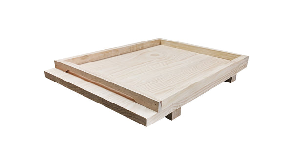 8 Frame Beehive Base Bottom Board - Solid Pine Base